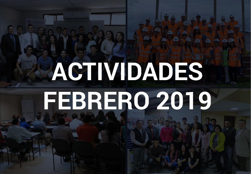 Boletín de Actividades – Febrero 2019