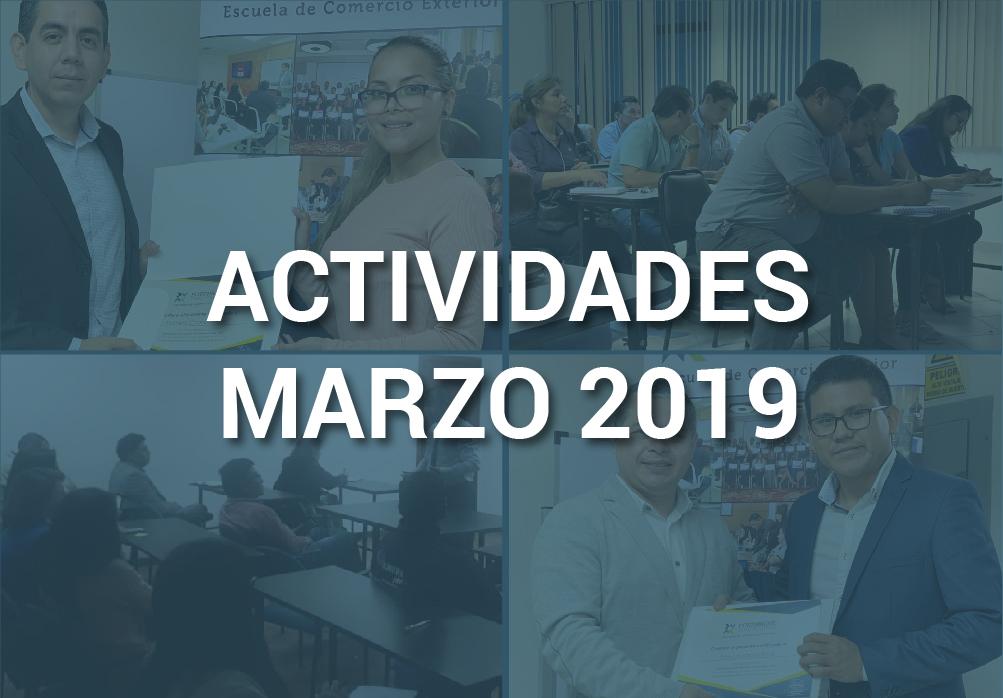 Boletín de Actividades – Marzo 2019