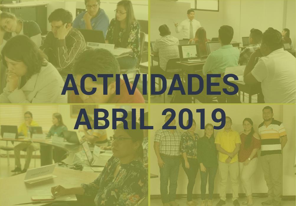 Boletín de Actividades – Abril 2019