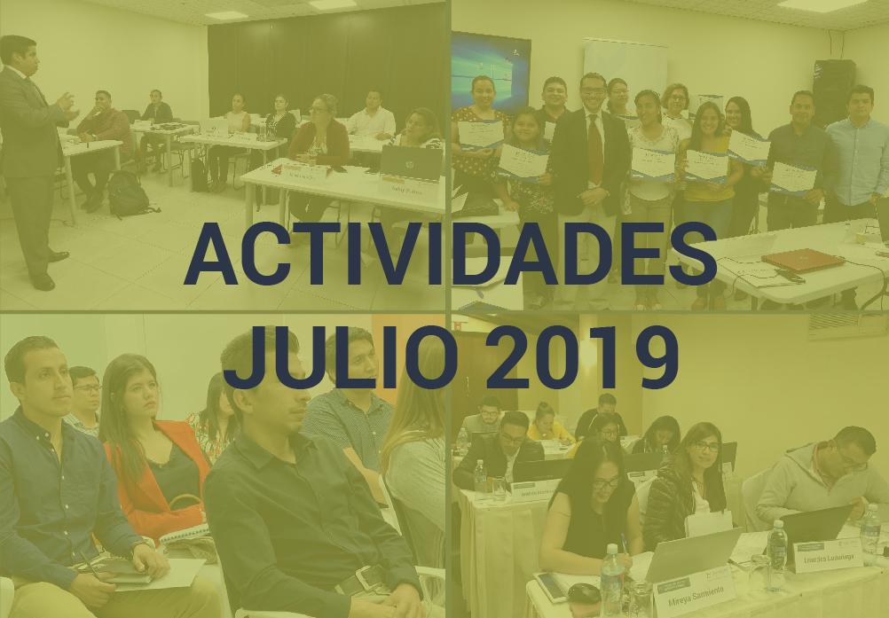 Boletín de Actividades – Julio 2019