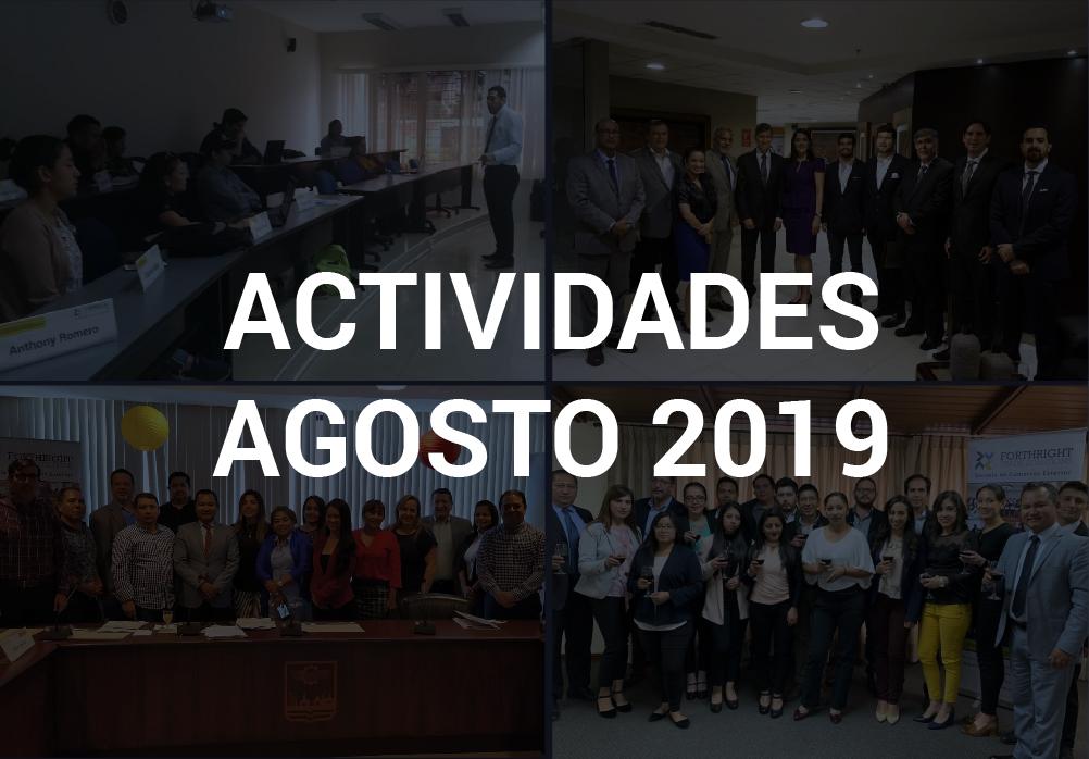Boletín de Actividades – Agosto 2019