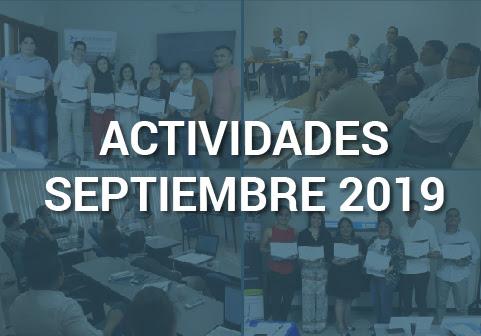 Boletín de Actividades – Septiembre 2019