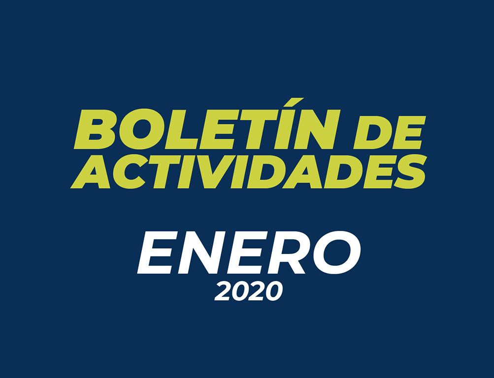 Boletín de Actividades – Enero 2020