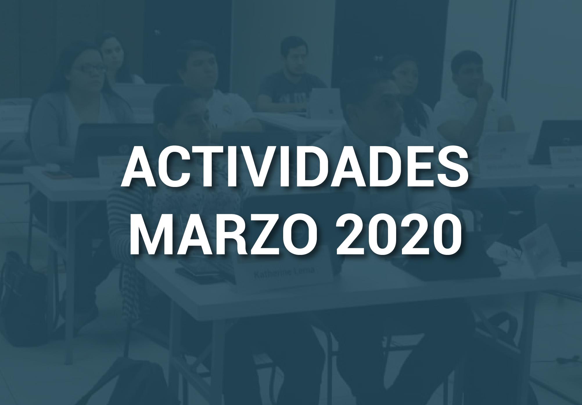 Boletín de Actividades – Marzo 2020