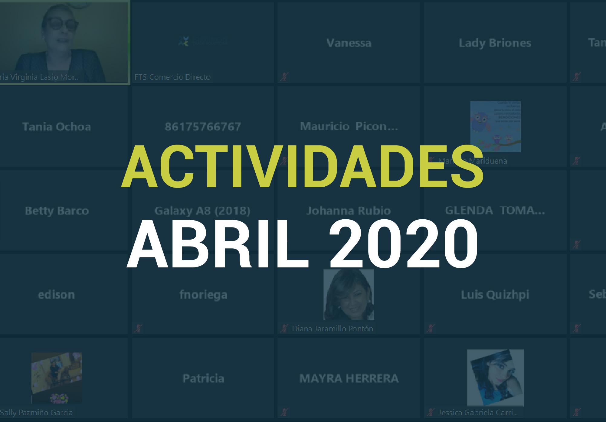 Boletín de Actividades – Abril 2020