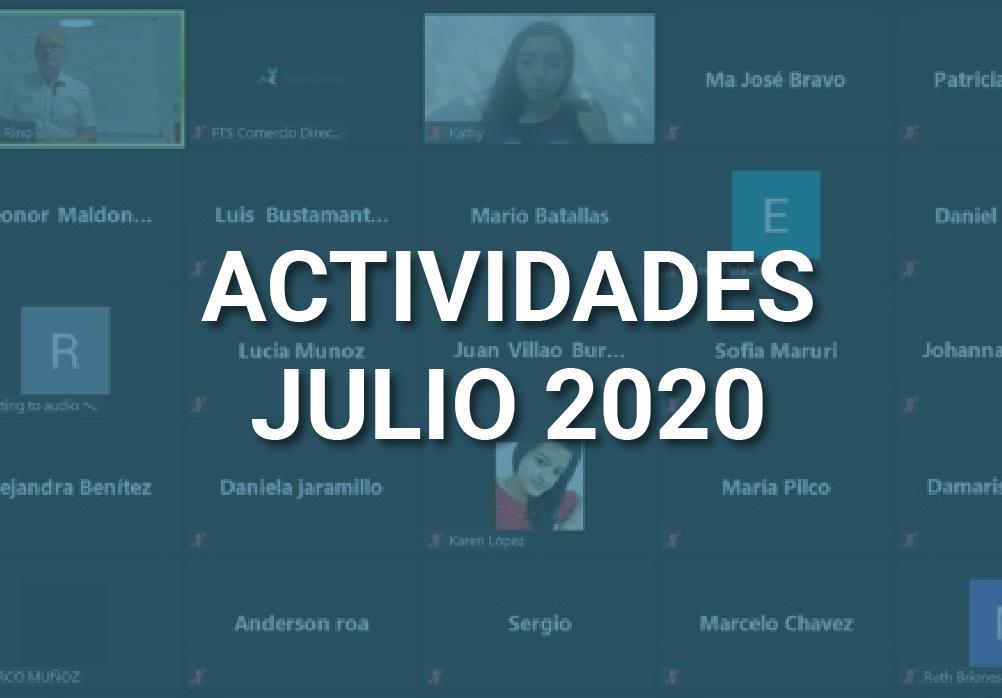 Boletín de Actividades – Julio 2020