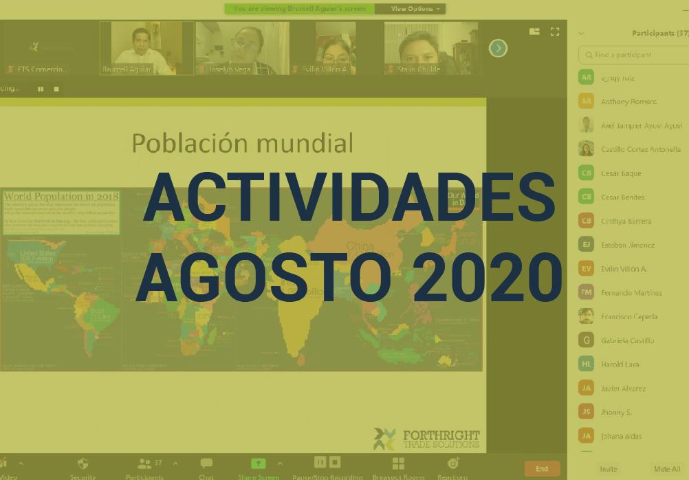 Boletín de Actividades – Agosto 2020