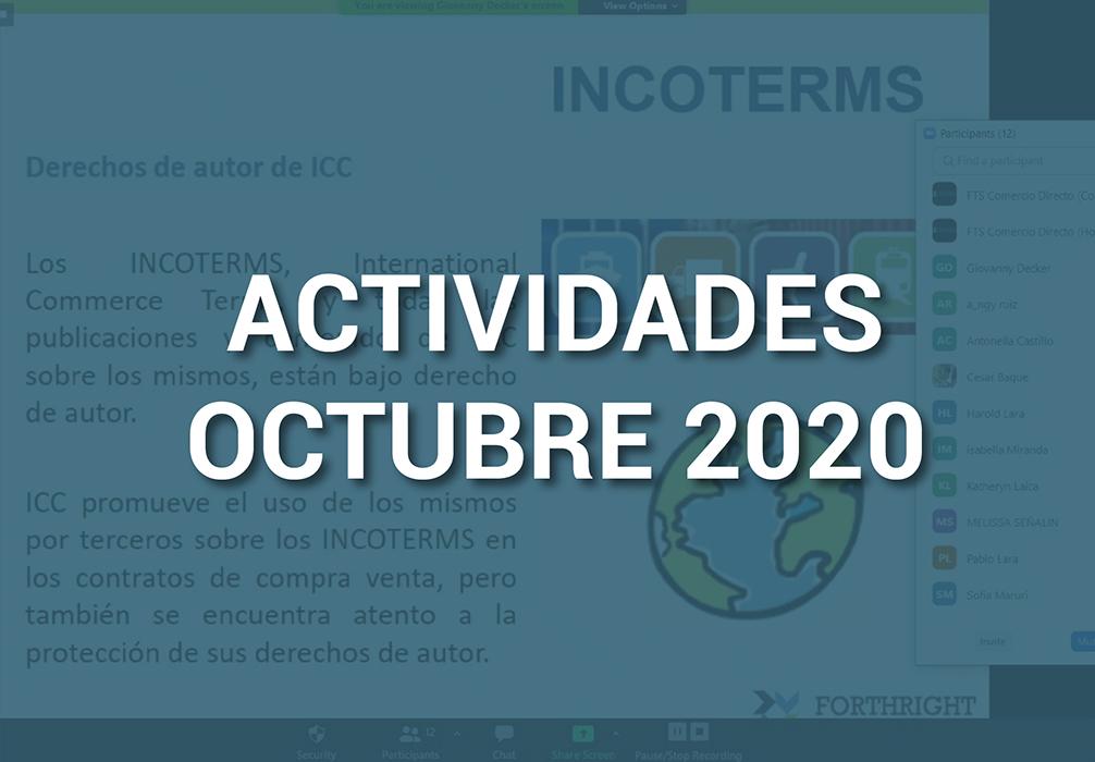 Boletín de Actividades – Octubre 2020
