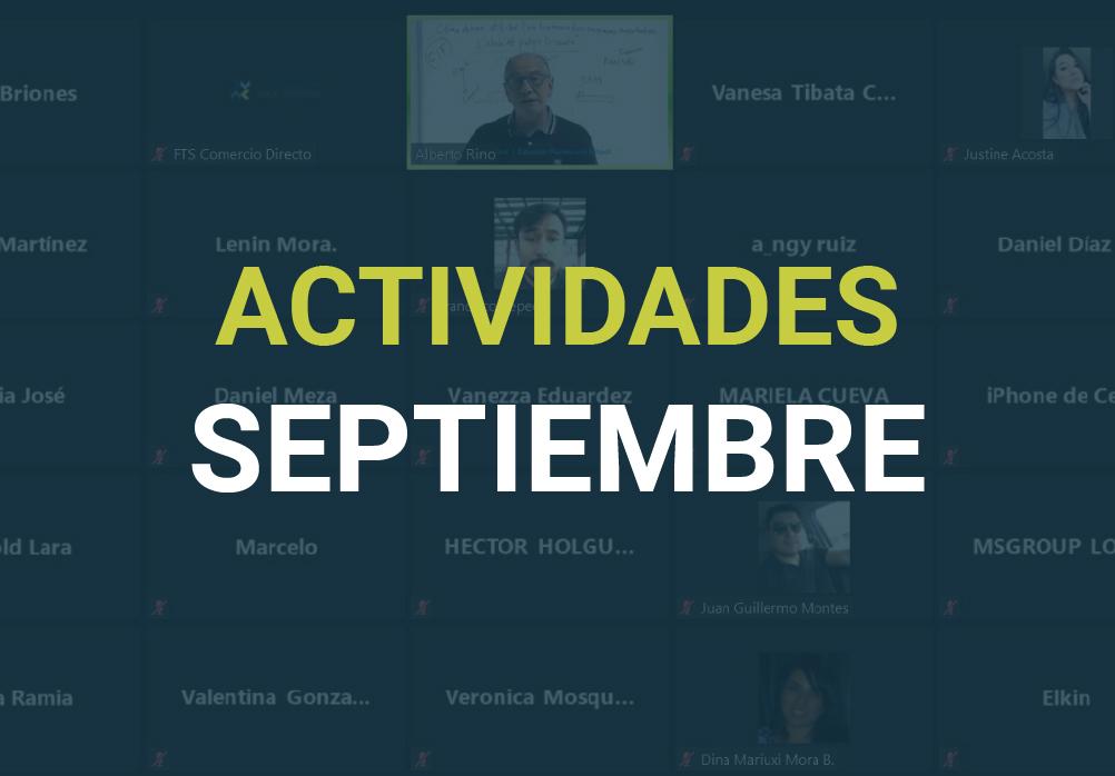 Boletín de Actividades – Septiembre 2020